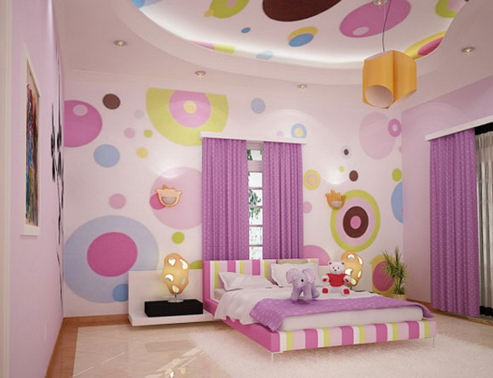 Bed Room Anak Perempuan HJ Interior Design #2 (Cute Pink)