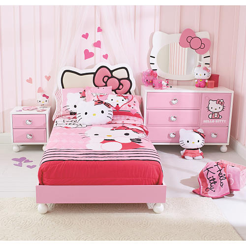 Bed Room Anak Perempuan HJ Interior Design #5 (Pink Hello Kity)